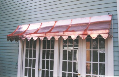 Copper Sweep Awning - Straight Side - #Awn10