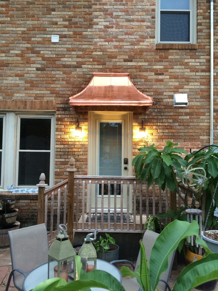 Copper Sweep Awning - Awn#12