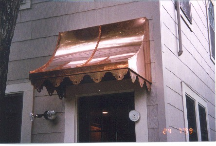 Copper Sweep Awning - Straight Side - #Awn16