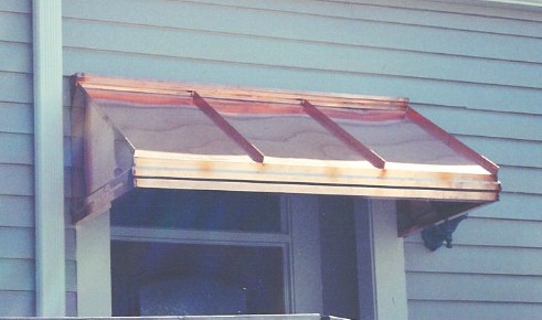 Copper Straight Awning - #Awn55