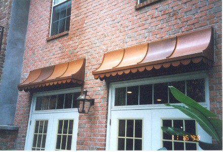 Copper Sweep Awning - Straight Side - #Awn5