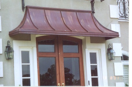 Copper Sweep Awning Awn66