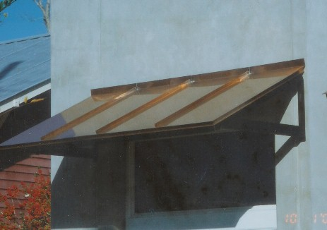 Copper Iron Frame Awning - #Awn71