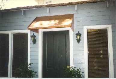 Copper Straight Awning - #Awn7