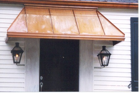 Copper Straight Awning - #Awn8