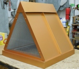 A-Frame Chimney Cap Painted with screen