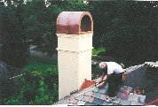 Copper Round Top Chimney Cap # 72