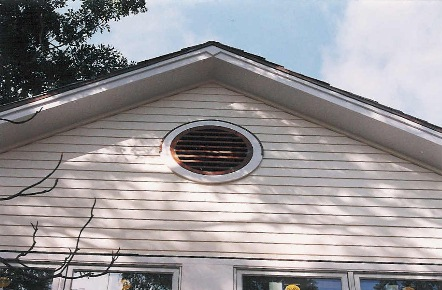 Round Wall Gable Vent   #Lou 55