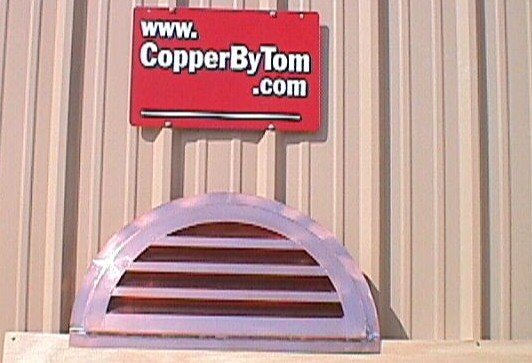Half Round Wall Gable Vent - #Lou59